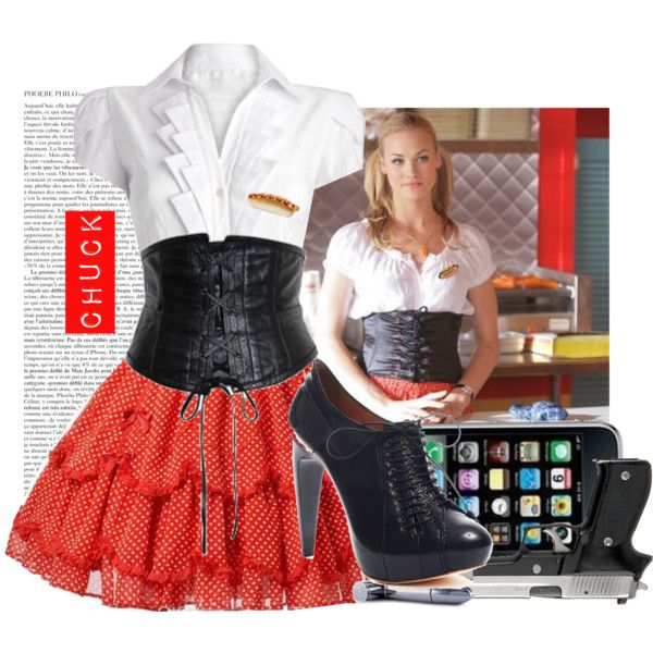 """Chuck- sarah walker"" by mcnerd on Polyvore"