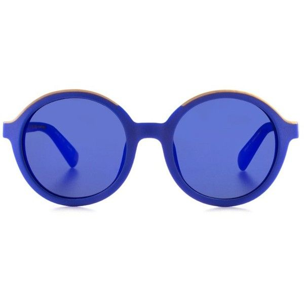 Etnia Barcelona - Klein blue full circle sunglasses ($289) ❤ liked on Polyvore featuring accessories, eyewear, sunglasses, retro circle sunglasses, circle glasses, blue glasses, circle sunglasses and circular glasses