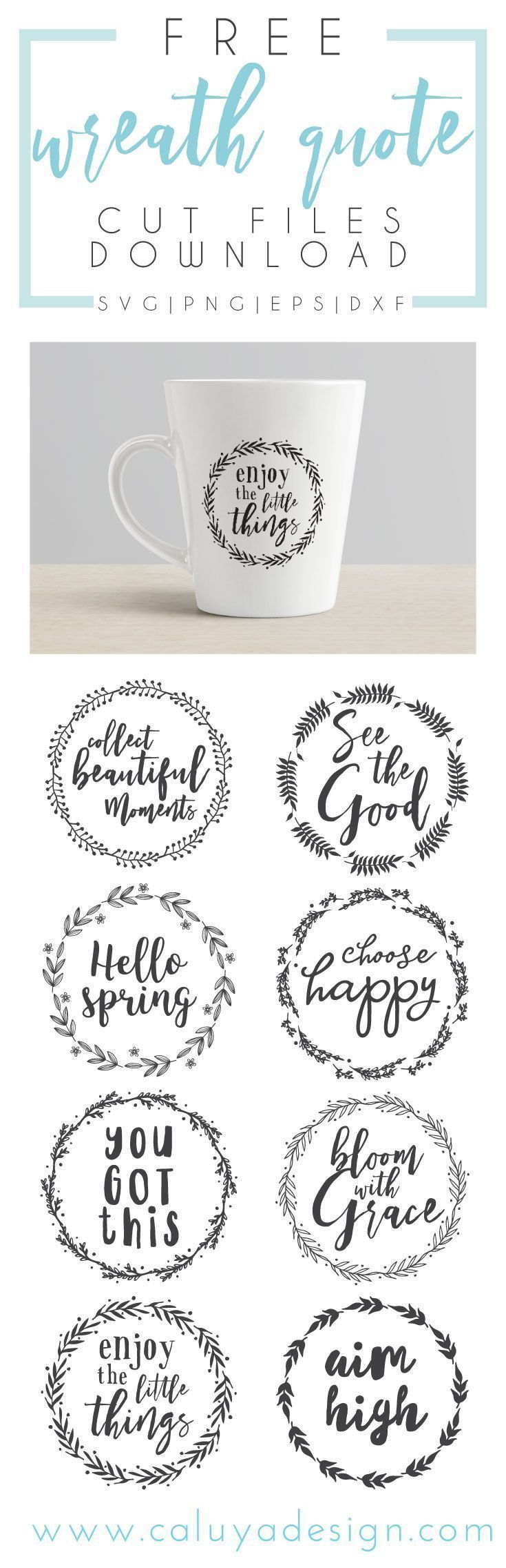 Free wreath quote SVG cut file download, compatible with Cricut and Cameo Silhouette, and other major cutting machines. Enjoy this beautiful wreath inspirational and happy quotes SVG cut files for free! 100% free for personal use, and only $3 for commerci