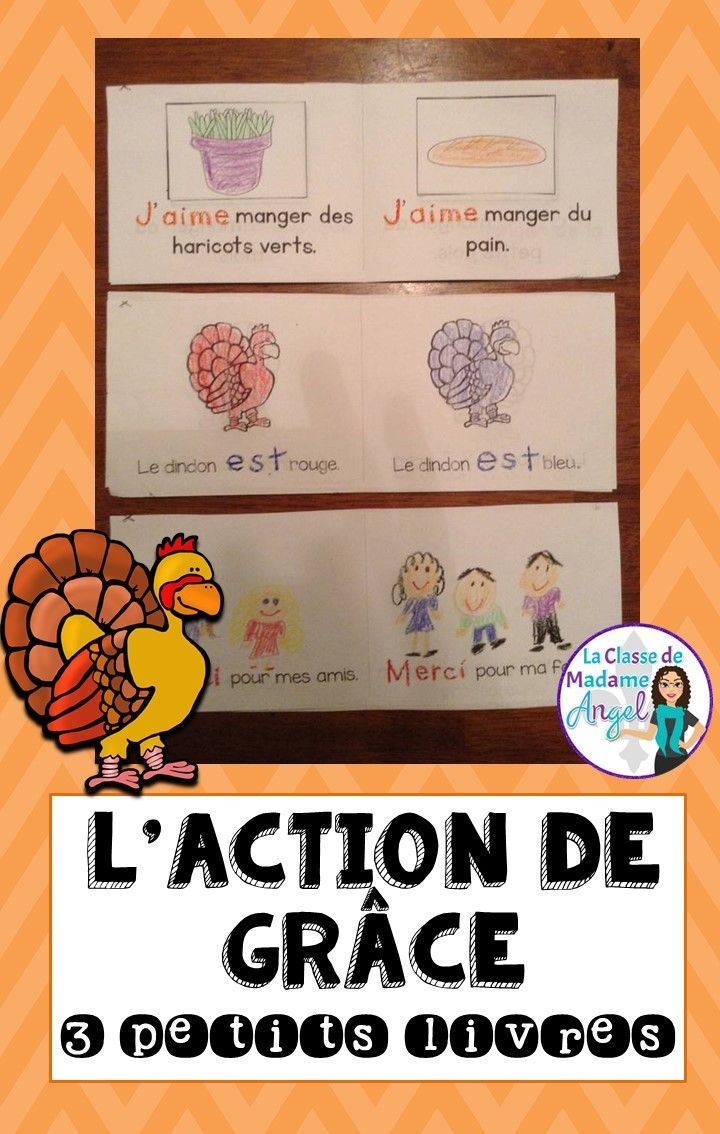 L'Action de Grâce! Great set of mini books/ emergent readers for my beginning French students! Perfect for Thanksgiving.