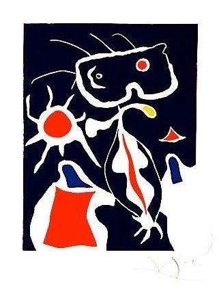 """Joan Miro - Surrealim - """"Le Miroir secret du feu et du froid"""" gravure de 1977."""