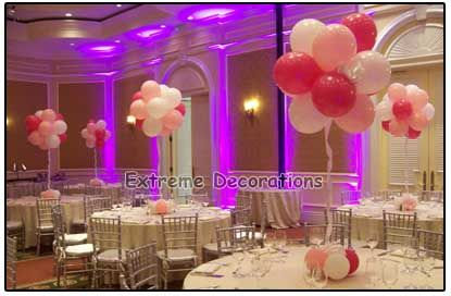 Balloon Wedding Centerpieces