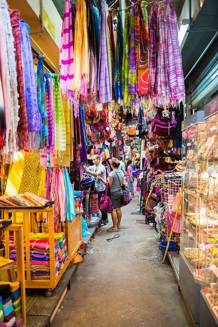 Chatuchak Weekend Market - The Largest market for fun and colorful items, animals, food, etc.