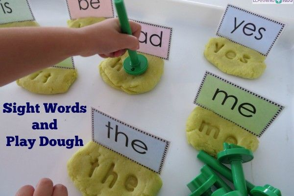 Hands-on sight word activities are a motivating way to help children learn how to read common sight words. Making Sight Words in Play Dough with letter stampers creates a fun canvas to promote sight word recognition or... #handsonsightwordactivitywithplaydough #sightwordliteracycentre #workstation