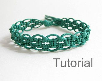 Macrame bracelet pattern pdf instructions tutorial forest green lacy beginners easy diy handmade how to jewelry tuto micro makrame jewellery