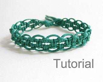 Macrame bracelet pattern tutorial pdf easy yellow от Knotonlyknots