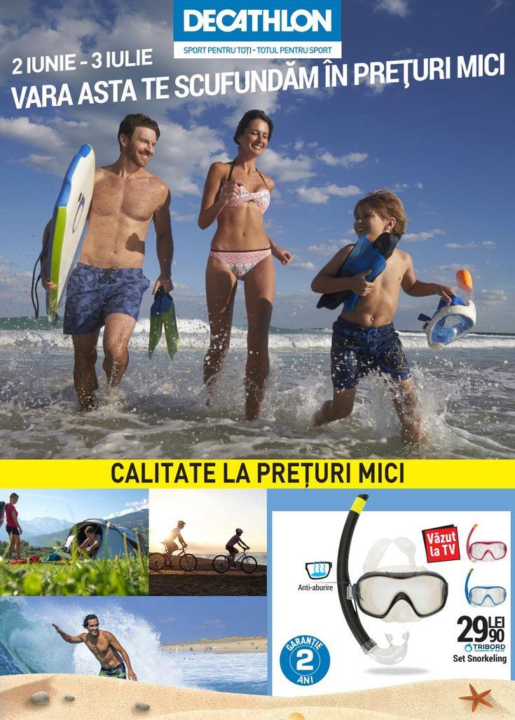 Catalog Decathlon Preturi Mici in perioada 02 Iunie - 03 Iulie 2016! Oferte si recomandari: Aquashoes 50, conceputi pentru snorkeling 24,90 lei