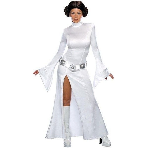 Star Wars Sexy Princess Leia ($49) ❤ liked on Polyvore featuring costumes, adult princess leia costume, princess leia costume, adult star wars costume, star wars leia costume and star wars princess leia costume