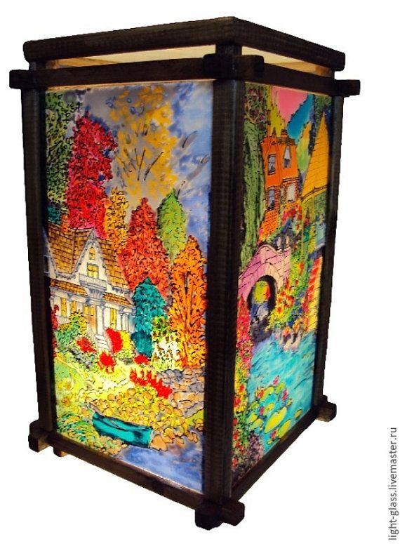 Светильник витражный Времена года от Stainedglasss500 на Etsy