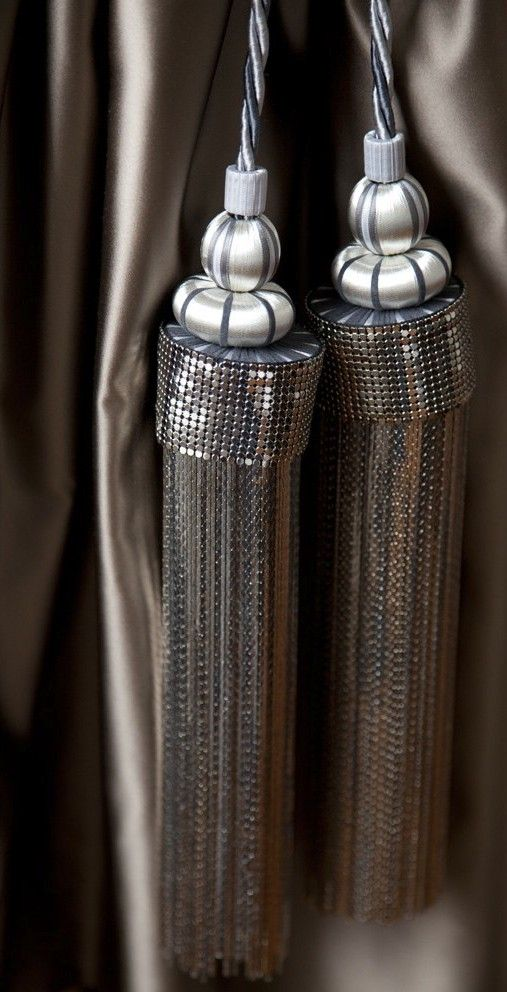 Silver Russian Bling Tieback By Spina Available Through