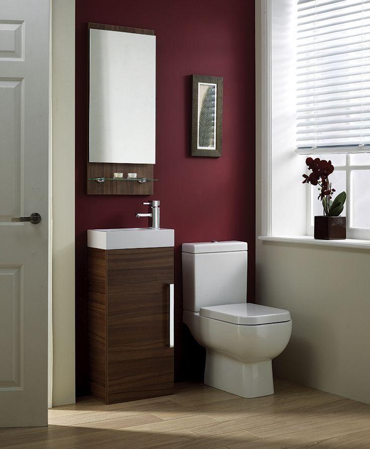 Walnut Cloakroom Bathroom Furniture from Frontline Bathrooms