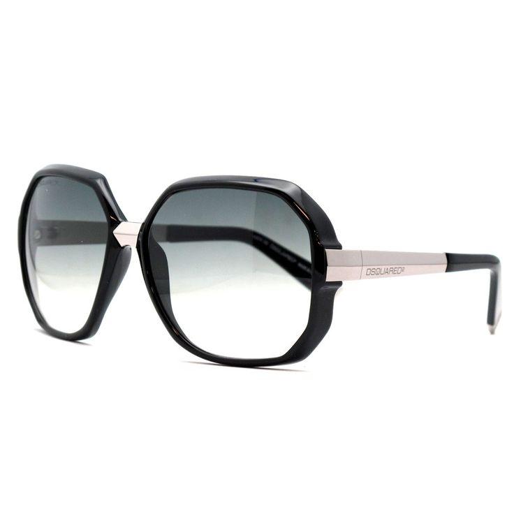 DSQUARED Sunglasses DQ 0045 01B Metal - Acetate Black - Gun Gradient Grey. Reference: DQ0045 01B. Model: Female. Material: Metal - Acetate. Colour: Black - Gun. Lens colour: Gradient Grey.