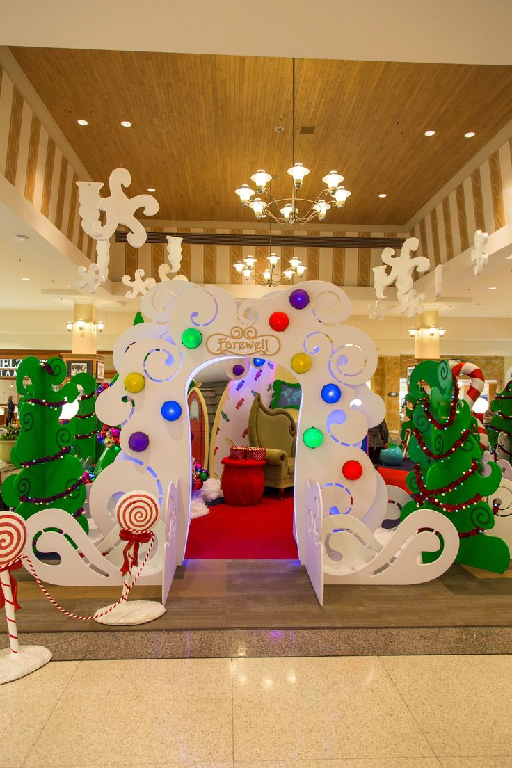 Christmas Decorations For Neighborhood Entrances : Best commercial holiday decor images on