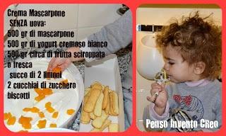 Crema al mascarpone SENZA UOVA , facile da fare insieme con il tuo bambino