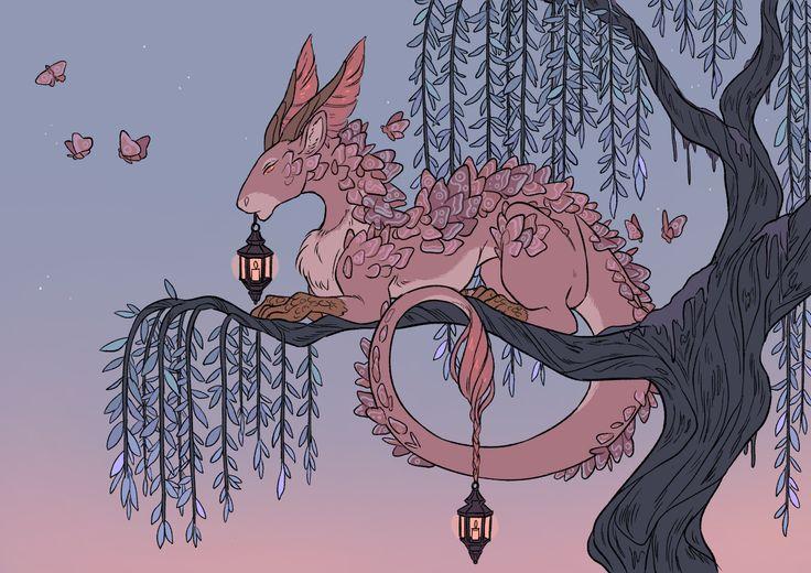 драконы и сакура картинки собраны крутые фото