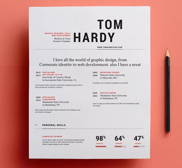 8 besten resume/CV Bilder auf Pinterest | Lebenslauf, Grafikdesigner ...