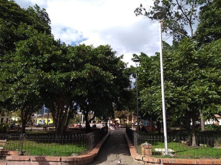 Parque del municipio de Tabio, Cundinamarca.