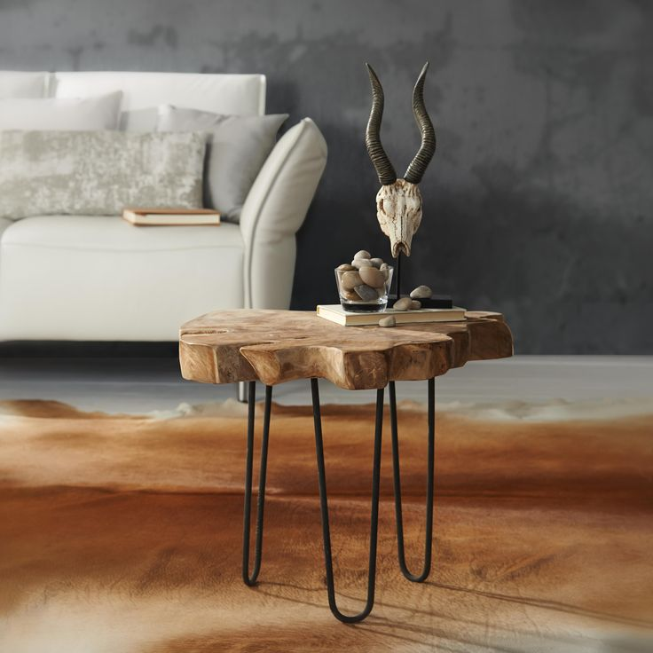 Natur Ist Angesagt Dieser Beistelltisch Mit Einer Massivholzplatte Berzeugt Durch Sein Modernes Design Ein