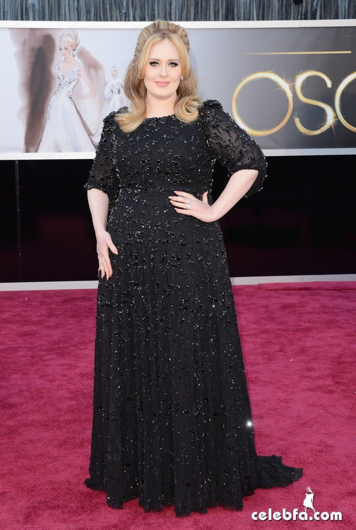 Adele Oscars 2013 Red Carpet
