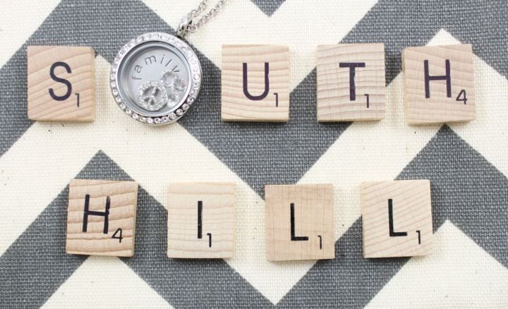 South Hill Designs Scrabble - South Hill Designs Locket