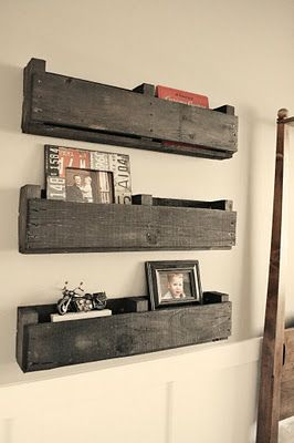 Use a pallet to make shelves