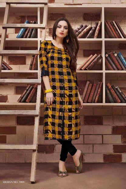 3a893fe9763a19 Wholesale Stylish Rayon Checks Print Western Kurti Collection | Bulk  Supplier