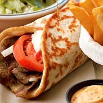 Image for Olga's Flatbread and Sauce.  My family will love me if I can start making these at home! Best pita ever.