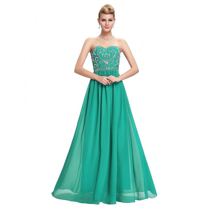 Tyrkysové spoločenské šaty CL6050