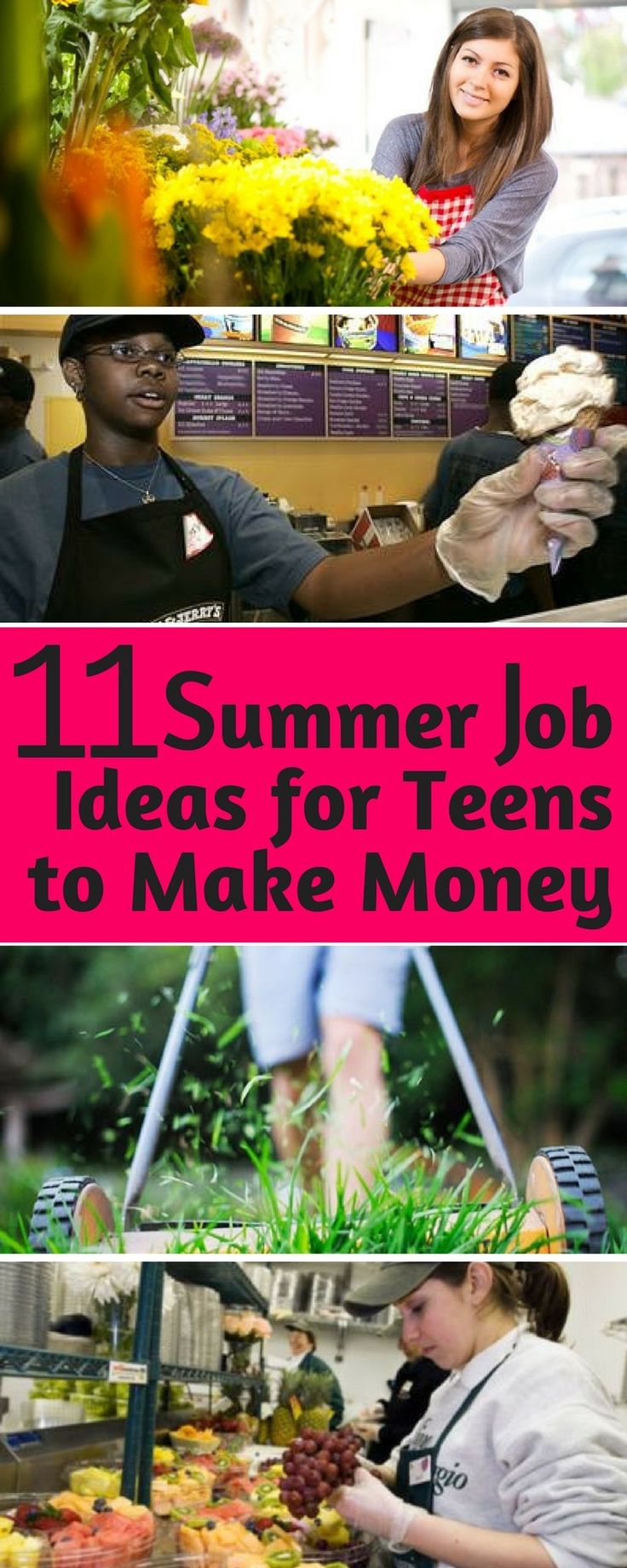 Eleven Summer Job Ideas for Teens to Make Money. Summer is the perfect time for teens to use their amazing skills to make money. If you are a teenager, consider figuring out ways to use your time off this summer to find a job or start a small business, to earn some money.