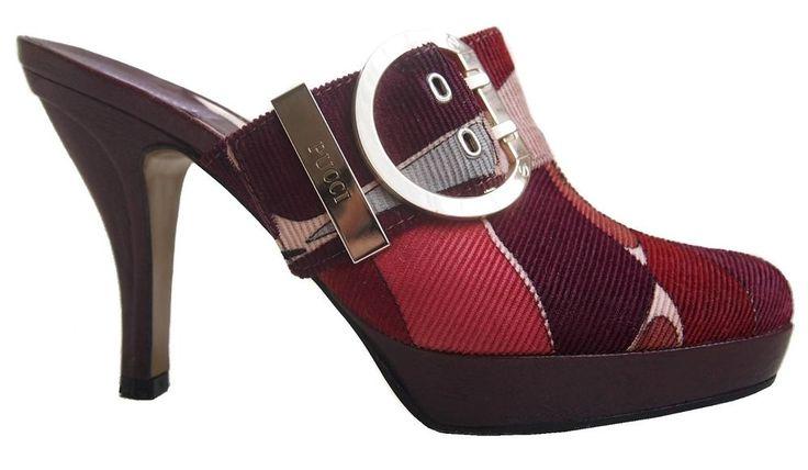 EMILIO PUCCI Womens Mules Shoes Corduroy Size 36 US  6 #EmilioPucci #Mules #Casual