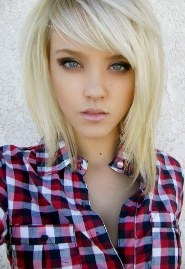 Top 9 Easy Hairstyles For Medium Length Hair | Plus Lifestyles.. I love the cut on the blonde in plaid!
