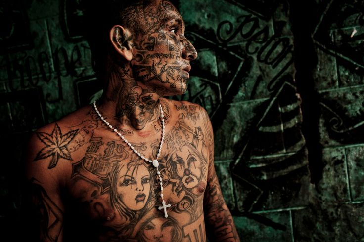 A member of Barrio 18, a street gang in El Salvador that is one of Central America's most violent.  Tomas Munita for the NY Times
