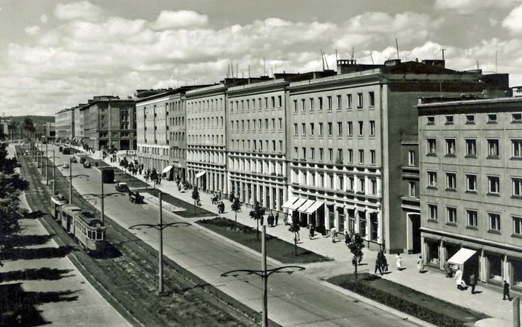 Aleja Grunwaldzka we Wrzeszczu / Grunwaldzka Avenue, #Wrzeszcz #Gdansk
