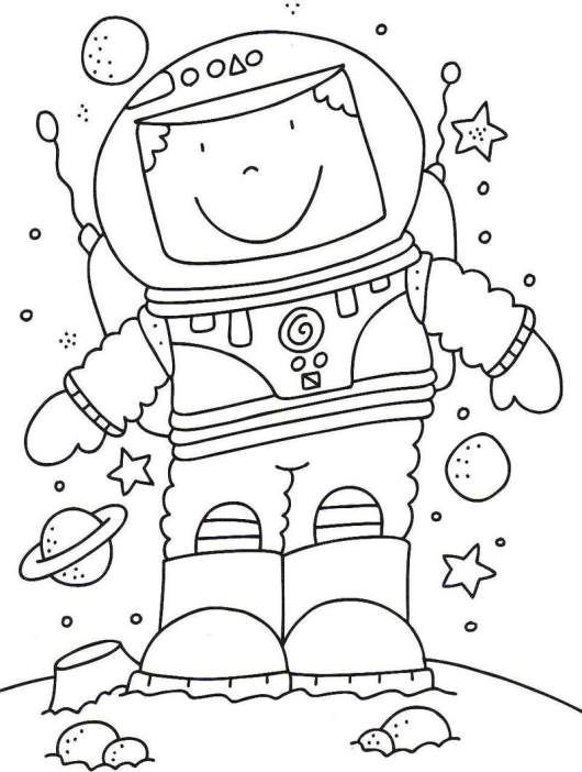little astronaut coloring page for kids