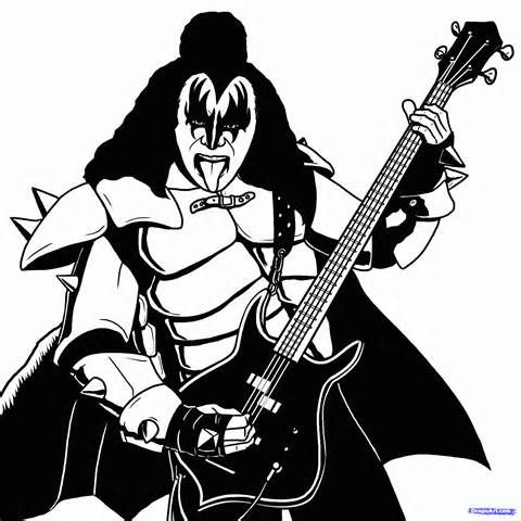 Kiss Band Coloring Pages Free