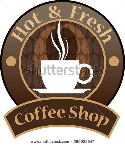 Vector, Coffee Shop logo for cafe business