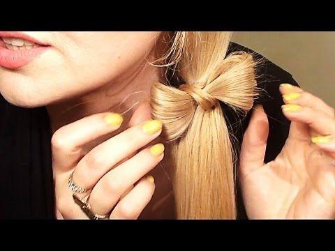 COLETA DE LADO CON UN LAZO o moñito peinado para pelo largo y mediano - YouTube