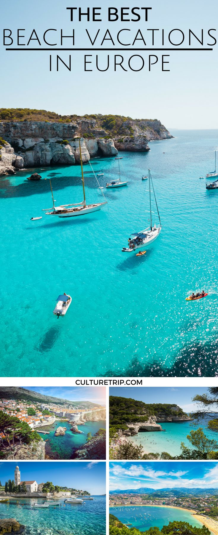 The Best Beach Vacations in Europe|Pinterest: @theculturetrip