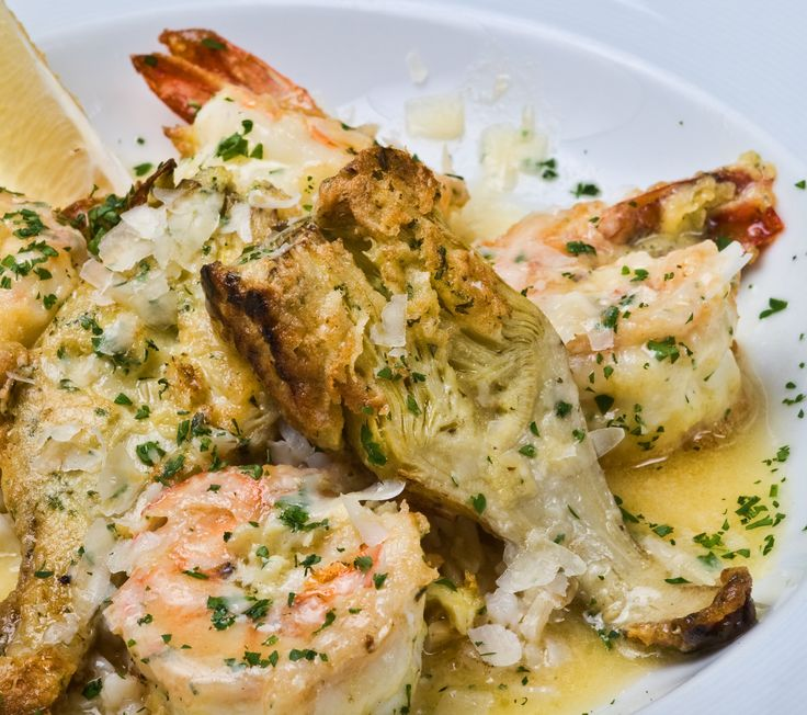 Baby Artichokes and Large Shrimp
