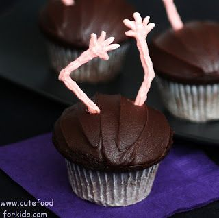 Cute Food For Kids?: Spooky Zombie Cupcakes