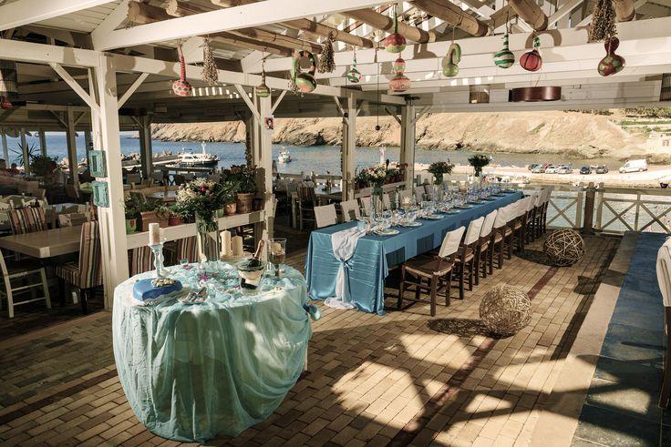 #wedding #venue #sea #summer # decor # table #Crete