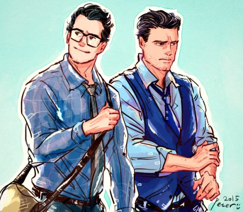 Clark Kent and Bruce Wayne
