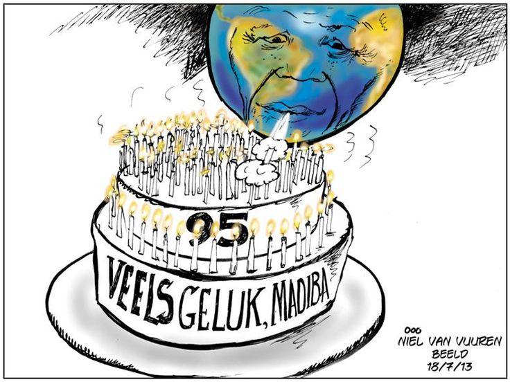 Beeld se spotprent vir Mandela's verjaarsdag.