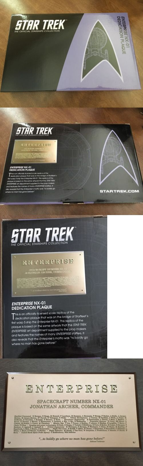 Star Trek 49211: Eaglemoss Star Trek Uss Enterprise Nx-01 Dedication Plaque - New -> BUY IT NOW ONLY: $34.99 on eBay!
