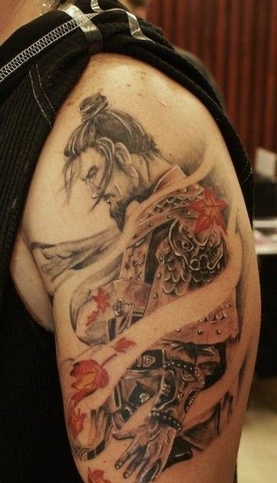 95 best samurai tattoos images on pinterest see best for Dragon and samurai tattoo meaning