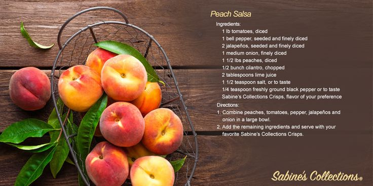 Perfect Peach Salsa | Easy and delicious! Pair with your favorite Sabine's Collections Crisps and enjoy the combination of sweet and savory flavors.