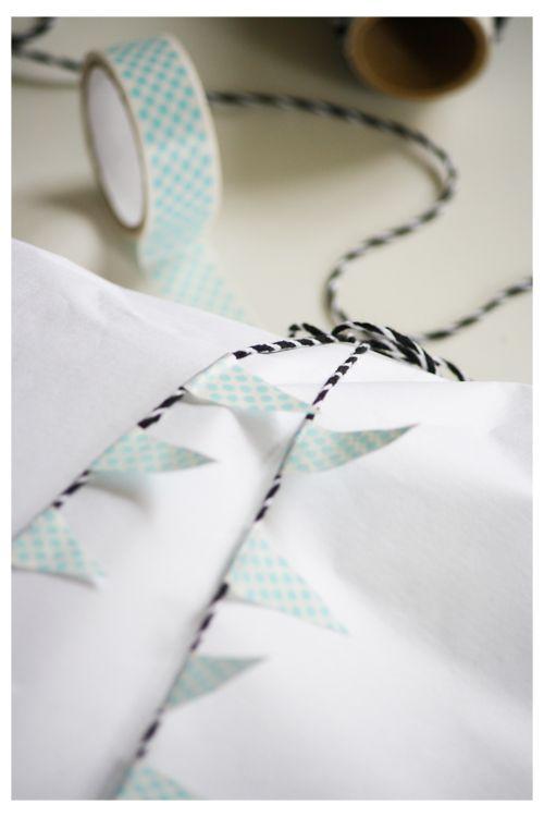 washi tape garland DIY