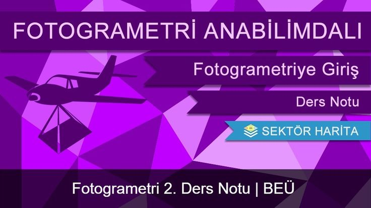 Bülent Ecevit Üniversitesi Fotogrametri dersinde Öğrencilere ders sunumu olarak verilen bir döküman olup sektör harita site içerisinde de paylaşılmıştır.