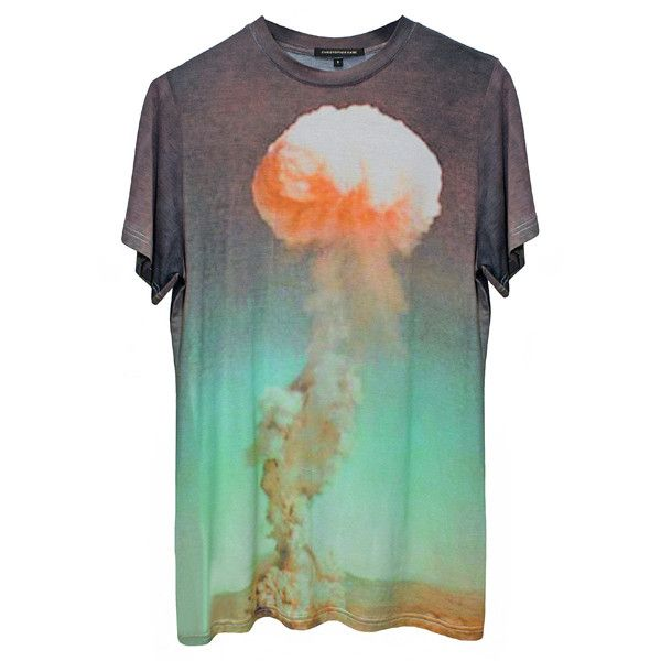 Atomic T-Shirt (€190) ❤ liked on Polyvore featuring tops, t-shirts, shirts, tees, women, colorful t shirts, relaxed fit t shirts, short sleeve shirts, oversized tops and over sized t shirt