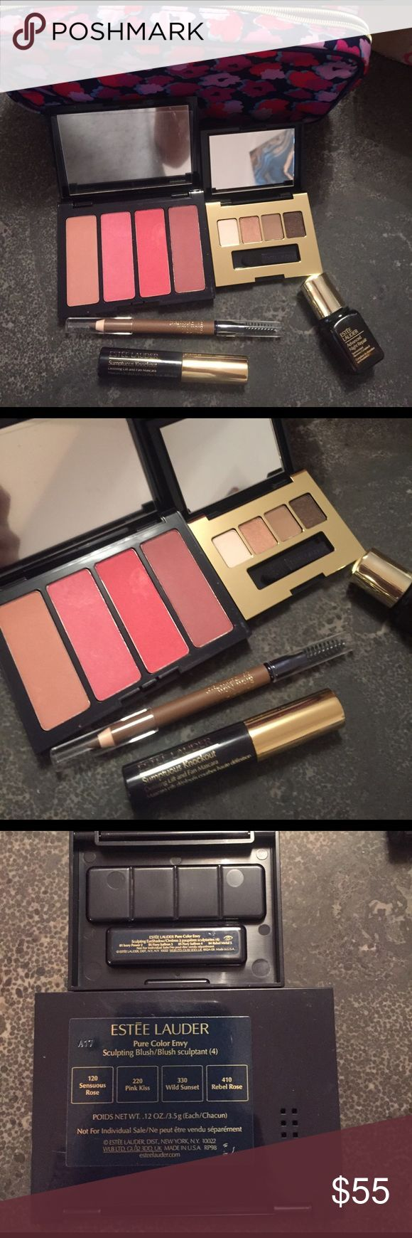 Estée Lauder 6 piece makeup bundle NWT never opened or used. Brand new. Free gift with every purchase! Estee Lauder Makeup